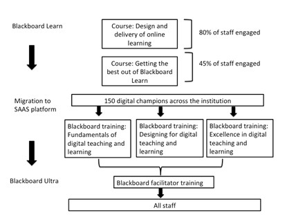 Design of training and support for staff in digital teaching at UEA