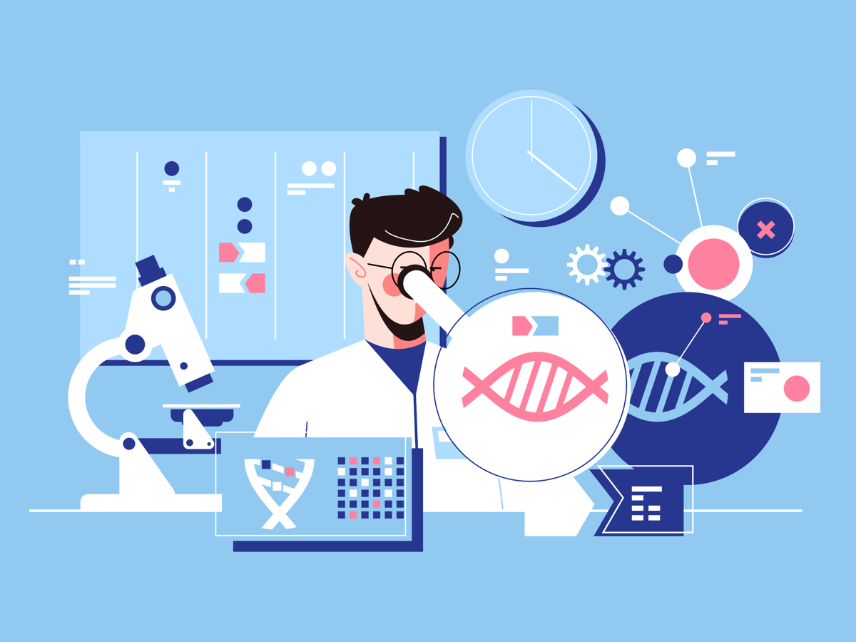 Illustration of scientific research