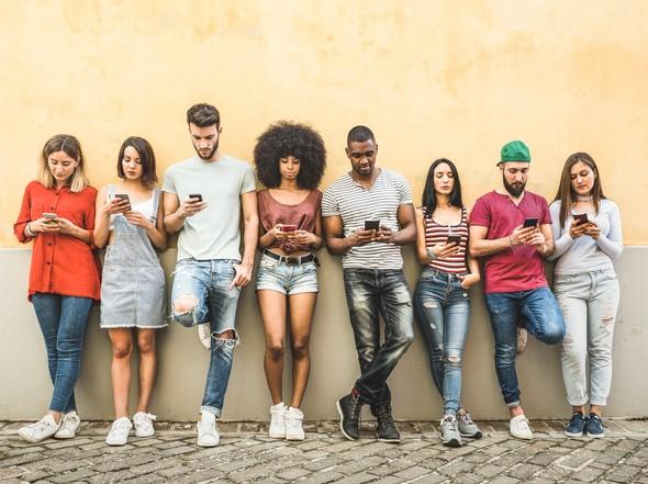 A multiracial group of students. It's going to be even tougher to engender interactions between students from different countries while learning online.